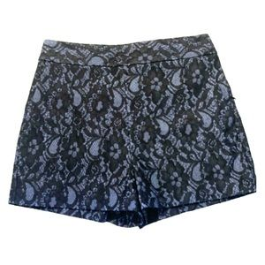 NEW❗️EXPRESS black lace blue shorts pockets sz 4